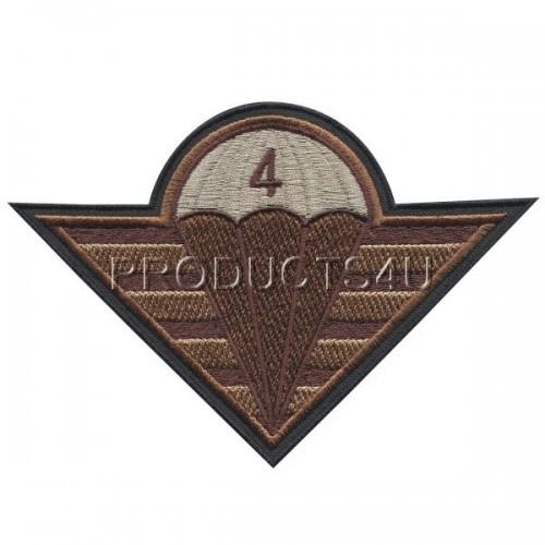 Nášivka Velitelství 4 brigády rychlého nasazení, pouštní