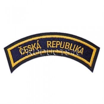 Nášivka Česká Republika, vyšívaná