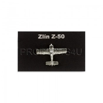 BADGE - ZLÍN Z-50, silver