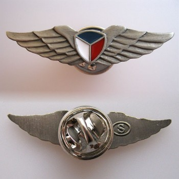 BADGE - PILOT WINGS, silver