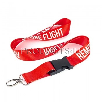 Klíčenka s karabinou REMOVE BEFORE FLIGHT