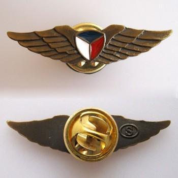 BADGE - PILOT WINGS, gold